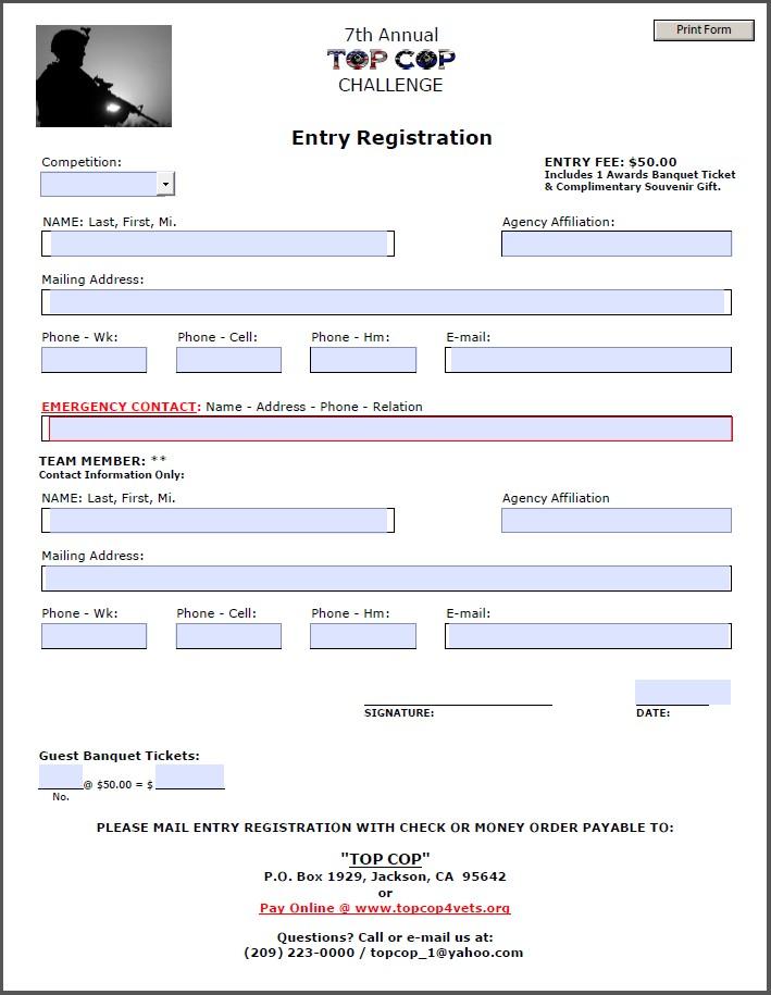 2016 TC Entry Form