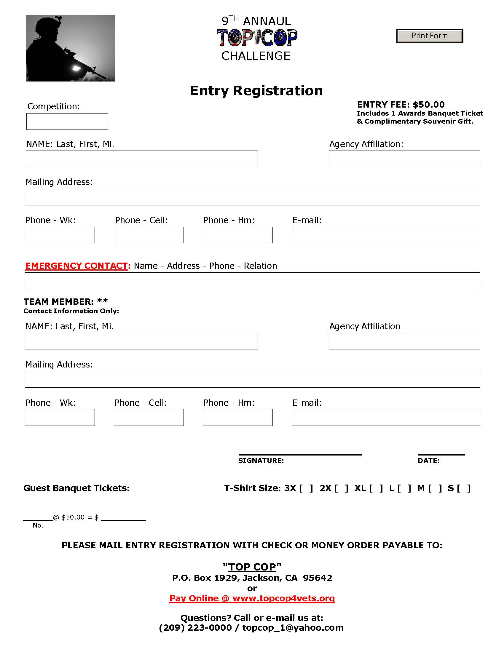 2021 TC Entry Form